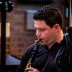 Peter Cigleris playing the clarinet