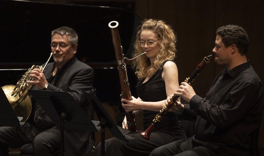 Peter Cigleris playing in an ensemble